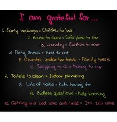 I am grateful vector