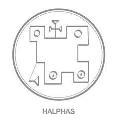 Icon with symbol demon halphas vector