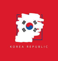 korea republic brush logo template design vector image