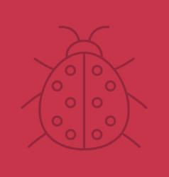 Ladybug linear icon vector