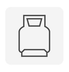 lpg icon black vector image