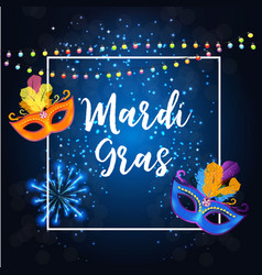 Mardi gras party mask holiday poster background vector