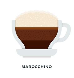 marocchino coffee mug flat isolated vector image