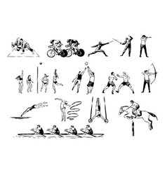 Martial arts judo boxing sparring cycling vector