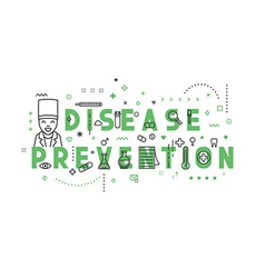Medicine concept design disease prevention vector image
