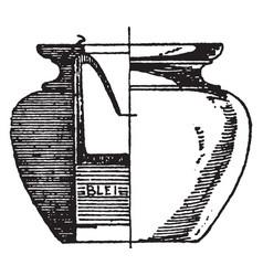 modern inkstand antique vintage engraving vector image