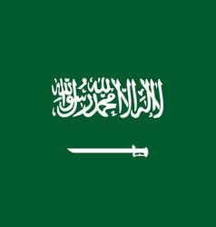 national flag kingdom of saudi arabia vector image