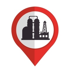 Oil industry plant isolated icon vector