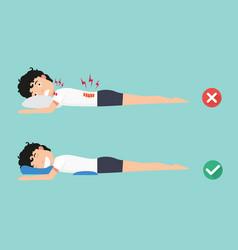 Orthopedic pillowsfor a comfortable sleep vector