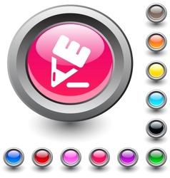 Pencil round button vector image