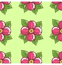 Pink Flowers On Green vector image