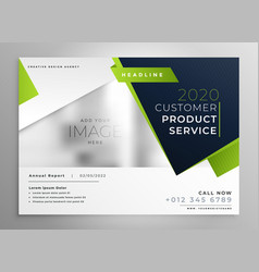 professional green business brochure design vector image