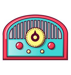 retro old radio icon cartoon style vector image