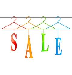 Sale hangers vector