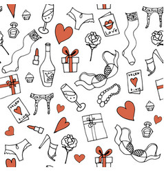 Seamless pattern for valentines day or wed vector