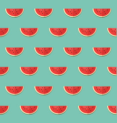 seamless pattern with slices of watermelon vector image