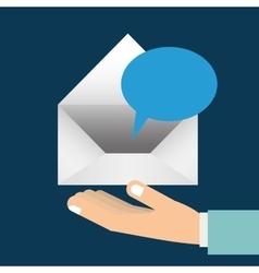 Send letter design vector