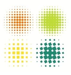 Set of colorful logos halftone Circles Logo vector image vector image