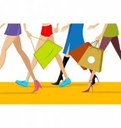 shopping ladies vector image