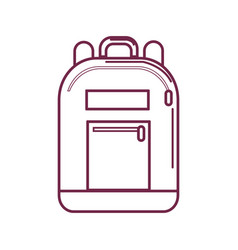 Silhouette backpack tool to save thing and study vector