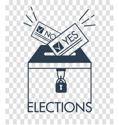 silhouette voting concept in linear style vector image