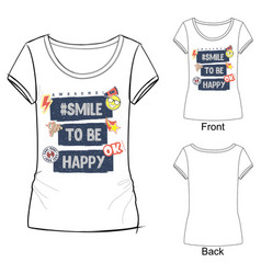 smile to be happy vector image