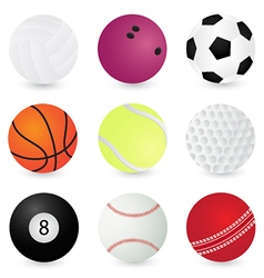 Sport Balls volleyball bowling soccer basketbal vector