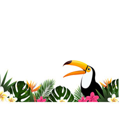 summer sale banner with toucan vector image