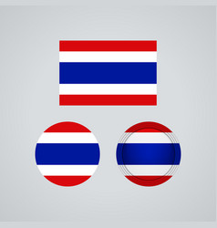 thai trio flags vector image