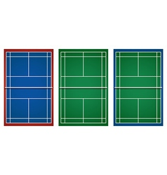 Three designs of tennis court vector