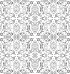 tile oriental floral seamless ethnic pattern vector image