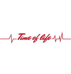 time of life pulse time background image vector image