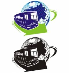 Tourist bus logo vector