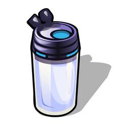 Travel mug isolated on white background vector