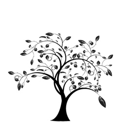 tree floral vector image