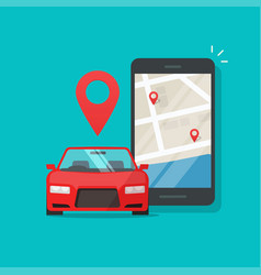urban transport as automobile vehicle sharing app vector image