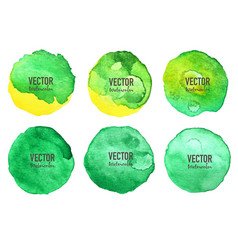 Watercolour circle set on white background vector