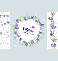Wild flowers hepatica floral elements for your vector