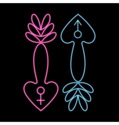 XXX erotic symbols adult vector image