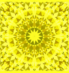 Yellow seamless abstract triangle mosaic tile vector