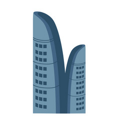 Business centre isolated icon vector