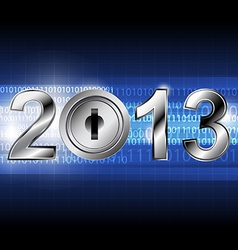 new year 2013 with digital concept vector image vector image