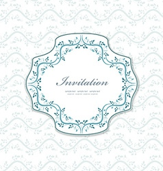 romantic a invitation for your design vector image vector image