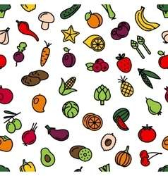 vegetables and fruit seamless pattern vector image