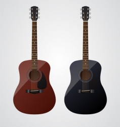 acoustic guitars vector image vector image