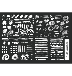 big set of 190 objects brushes vector image vector image