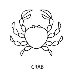 crab line icon vector image