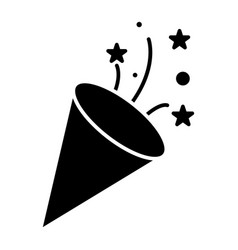 flapper - petard icon black vector image