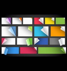 Peeling paper vector image