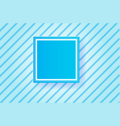 frame blue line backgroundpaper cut style vector image vector image
